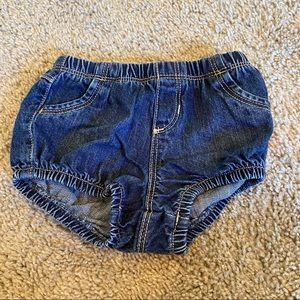Baby girls jean shorts Sz 6-12 months